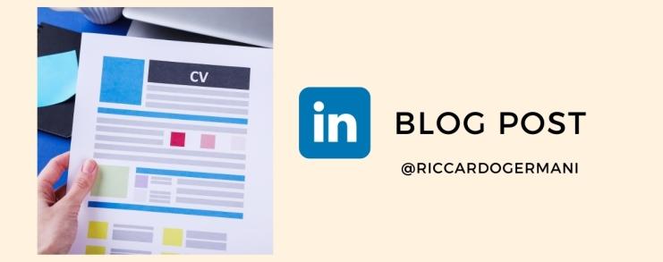 Dott. Riccardo Germani su LinkedIn